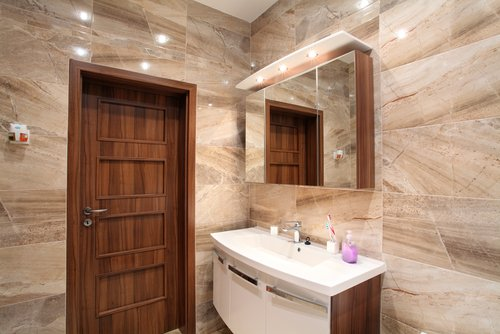 Wall to wall bathroom carpet excellent choice for your bathroom - Marble Portland Or Macadam Floor And Design