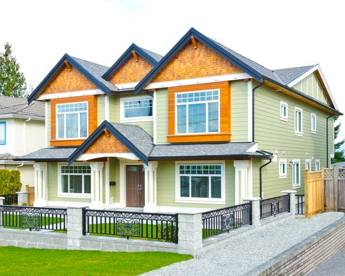 Image Of Large Two-Story House For Builder Design Portland - Macadam Floor And Design