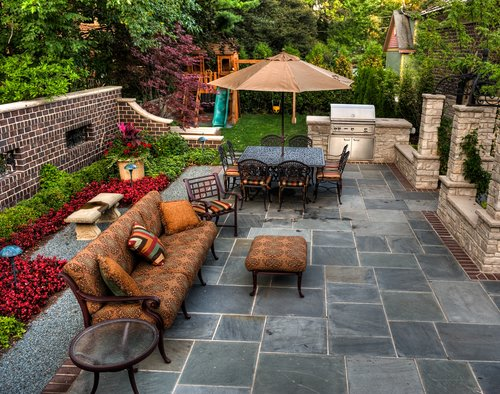 Beautiful Outdoor Slate Tile Installation by Macadam