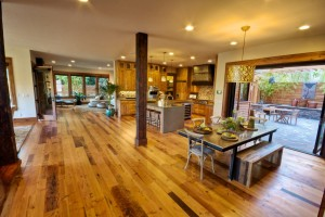 Hardwood Floors Stained and Finished on Site in Portland Oregon Home