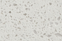 Macadam Floor and Design Quartz Countertop Iced White
