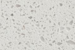 Macadam Floor and Design Quartz Countertop Iced White