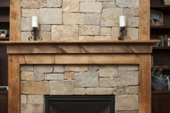 Tile and Stone Fireplace