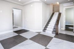 Macadam Floor and Design Tile Flooring Duomo Bianchi and Citadel Gray 5