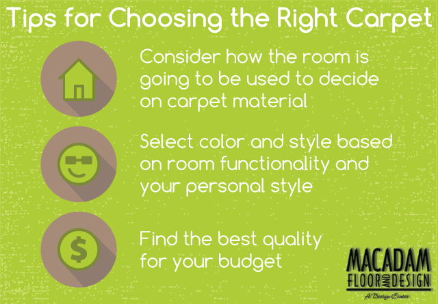 Tips for Choosing the Right Carpet - Macadam Floor And Design