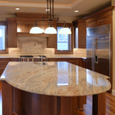 Slab Granite Island Countertop in Portland Oregon Home