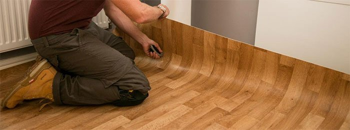 Vinyl flooring installation photo